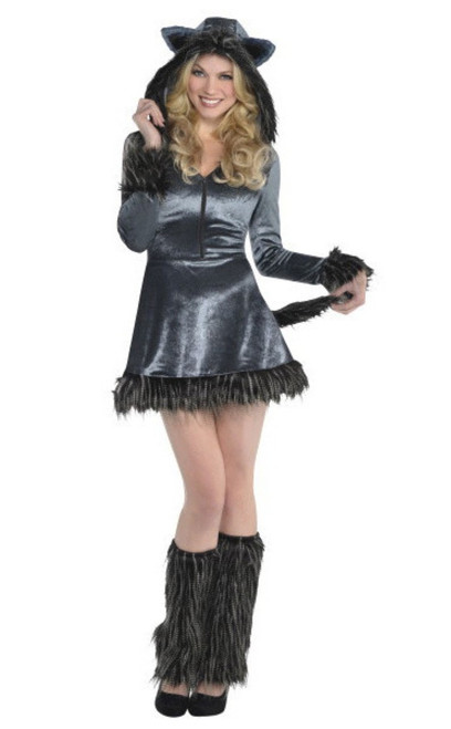 Howling Hottie Wolf Adult Womans XL 14-16 Halloween Costume