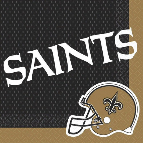New Orleans Saints Lunch Napkins 16 ct Black Gold