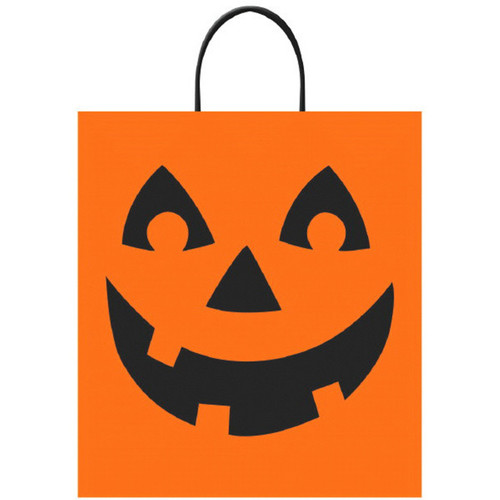 "Jack O'Lantern Halloween Trick Treat Loot Party Tote Bag 16"" x 14"""