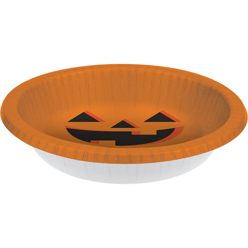 Halloween Pumpkin Jack O'Lantern 8 Ct 20 oz Bowls