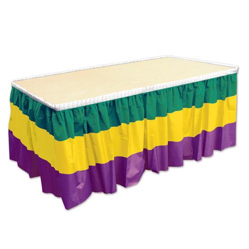 Mardi Gras Plastic Table Skirting Tableskirt 14 feet