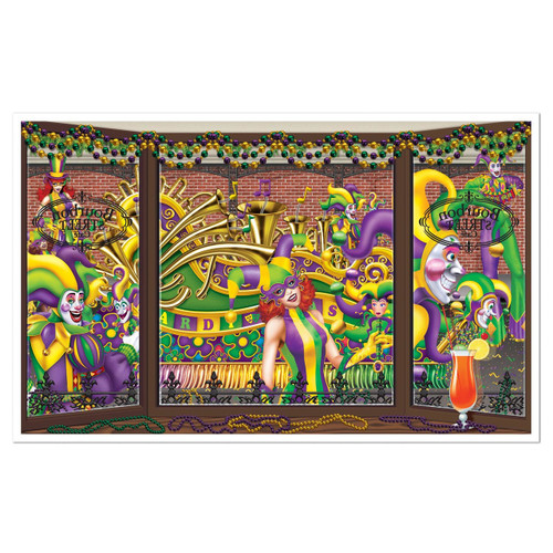 Mardi Gras Insta-View Wall Decoration Kit New Orleans