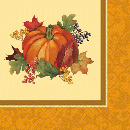 Bountiful Holiday 16 Ct Dinner Napkins Fall Thanksgiving