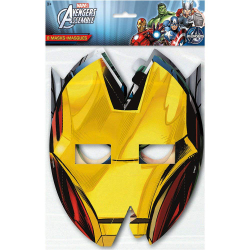 Avengers 8 Paper Face Masks Birthday Party 4 designs