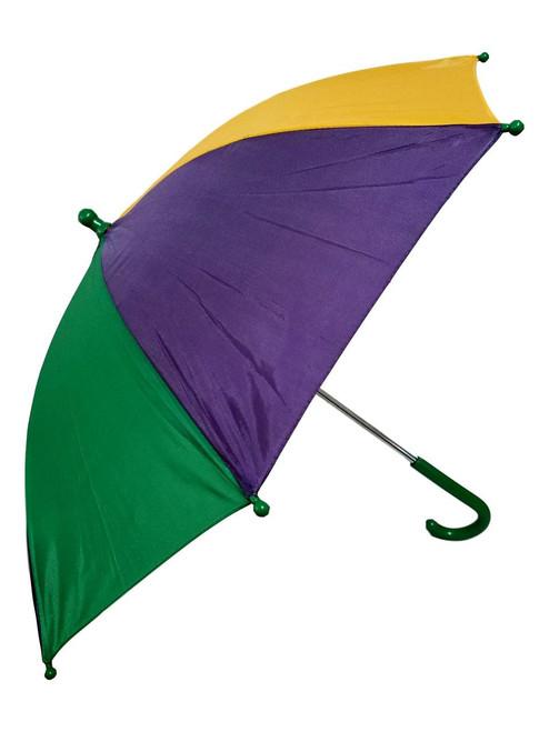 "Mardi Gras Umbrella Second Line Parasol Green Purple Yellow 16"""
