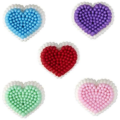 Confetti Hearts Dot Matrix Icing Decorations 24 Ct Wilton Valentines Day