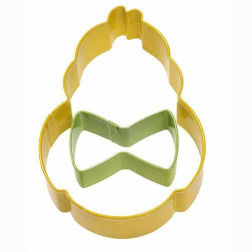 Chick with Mini Bow Tie 2 Pc Metal Cookie Cutter Set Wilton