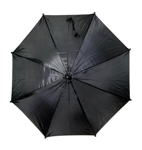 "Black Second Line Parasol 16"" or Kids Umbrella"