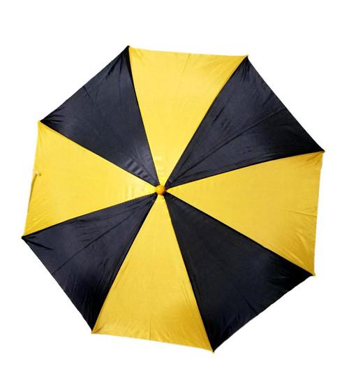 "Black Golden Yellow Second Line Parasol 16"" or Kids Umbrella Automatic Open"