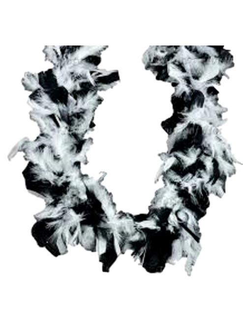 Black and White 45 gm 2 yds Chandelle Feather Boa