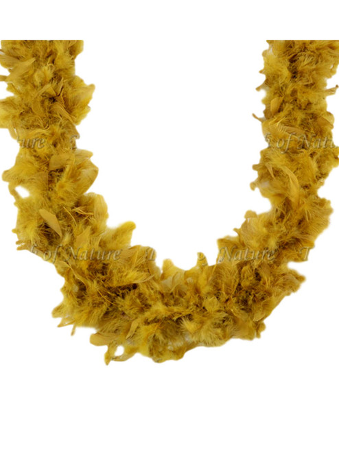 Gold 45 Gm 2 yds Dress Up Costume Chandelle Feather Boa