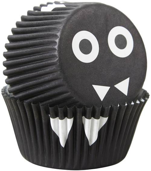 Black Bat Halloween Cupcake Combo Pack Makes 12 Liners Picks Eyes Wilton