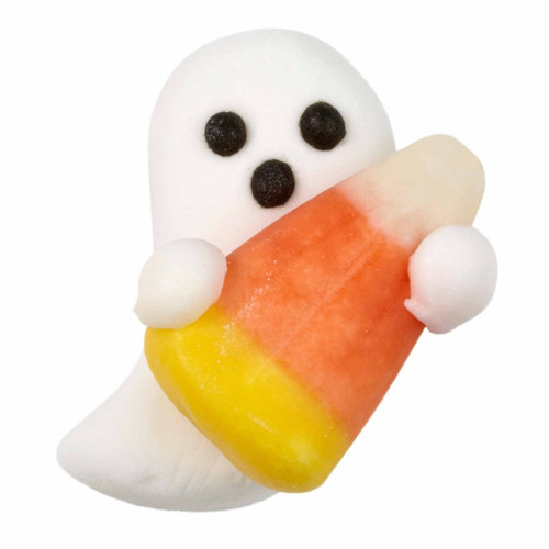Ghost with Candy Corn 12 Ct Royal Icing Decorations Wilton