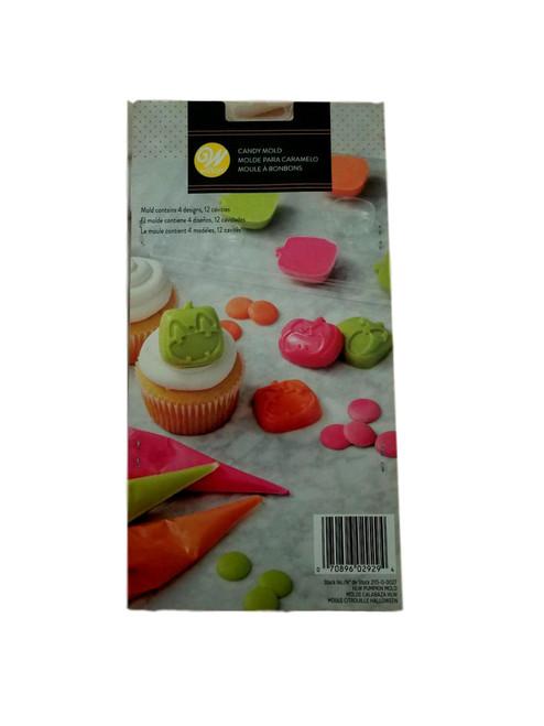 Wilton Halloween Pumpkin Candy Melts Mold 4 Designs 12 Cavities