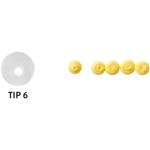 Wilton Disposable Tip Set 4 Tips # 6 Round Plastic