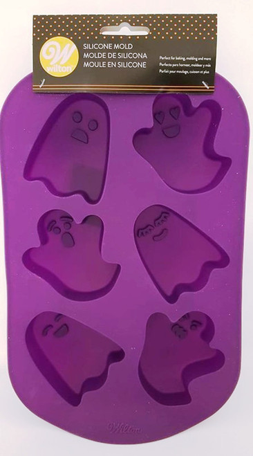Wilton Ghost 6 Cavity Silicone Mold Halloween