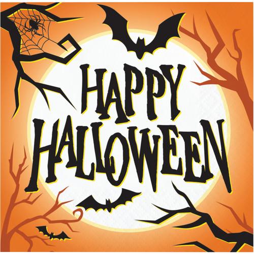 Halloween Haunted House Bats 16 Ct Beverage Napkins