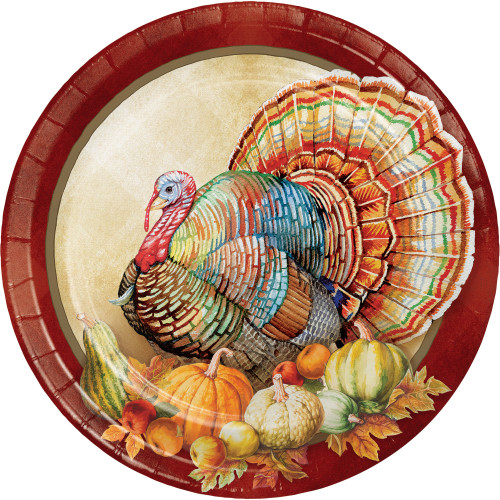 """Traditions of Thanksgiving 8 Ct Dinner Banquet 10"""" Plates"""