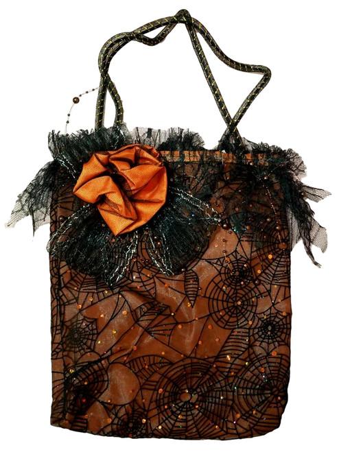 Orange Black Witch Halloween Costume Trick Treat Handbag