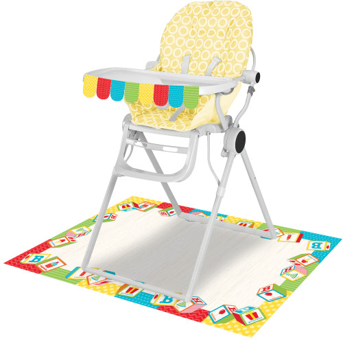 ABC 1st Birthday Party 2 pc High Chair Decorating kit