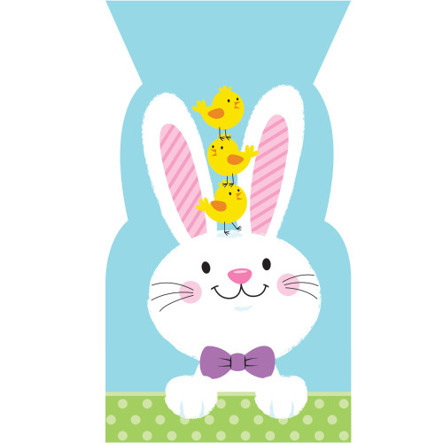 Bunny and Chick Pals Cello Treat Bags 20 Ct Plastic with Ties
