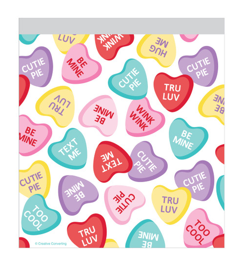 Valentine Heart Candy 10 Ct Sandwich Bags with Zipper
