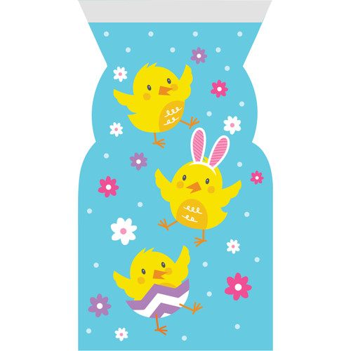 Easter Chicks 12 ct Cello Large Bags with Zipper