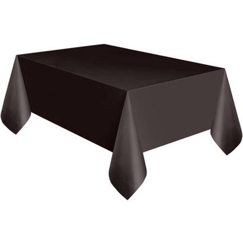 Black Plastic Tablecover 54 x 108