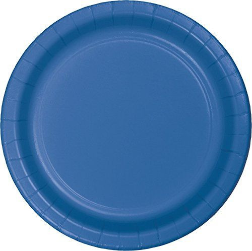 True Blue 7 inch Dessert Cake Plates 8 Ct