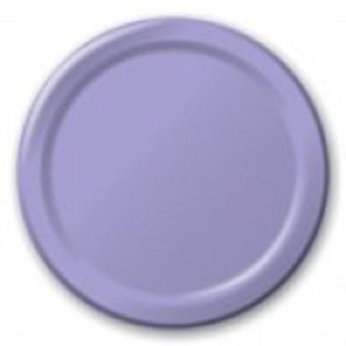 Luscious Lavender 7 inch Dessert Cake Plates 8 Ct