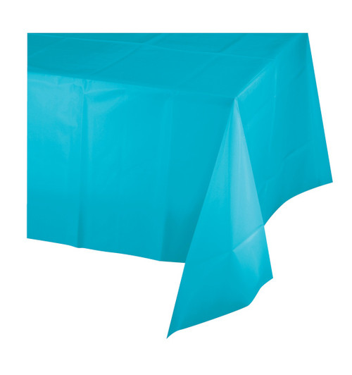 Bermuda Blue Touch of Color Premium Plastic Tablecover 54 x 108