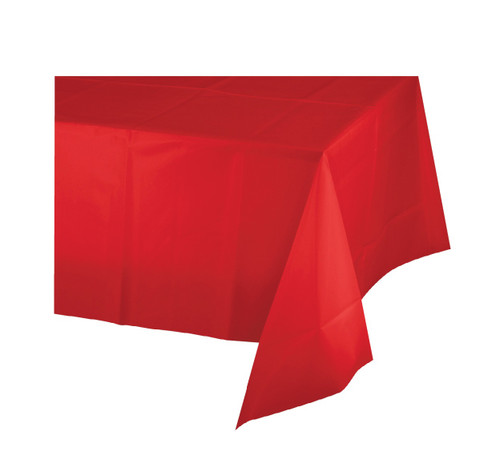 Red Plastic Tablecover 54 x 108