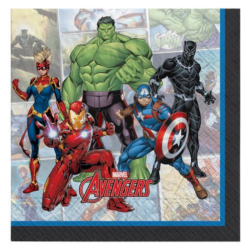 Avengers Powers Unite 16 Ct Beverage Napkins