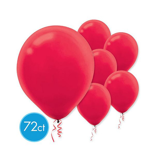 "Apple Red Latex Round Balloons 12"" 72 Ct"
