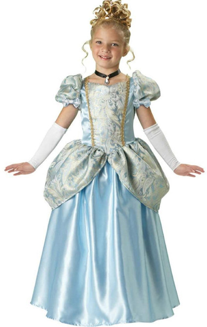 Deluxe Blue Enchanting Princess Girl Child Halloween Costume size 8