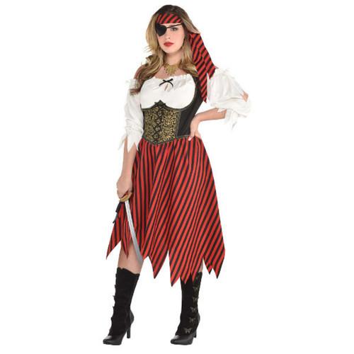 Pirate Beauty Dress Women Adult Plus XXL 18 - 20 Costume