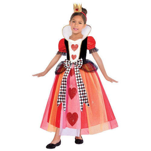Queen of Hearts Halloween Costume Girls Medium 8 -10