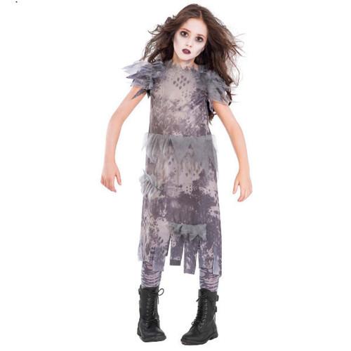 Ghostly Zombie Costume Girls Medium 8 - 10