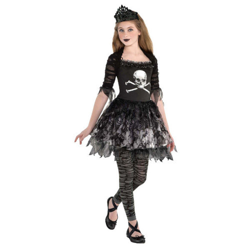 Prima Zomberina Costume Girls Large 12-14 Zombie Dancer Black