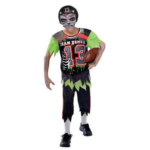 Football Player Zombie Child Boys Large 12-14 Costume