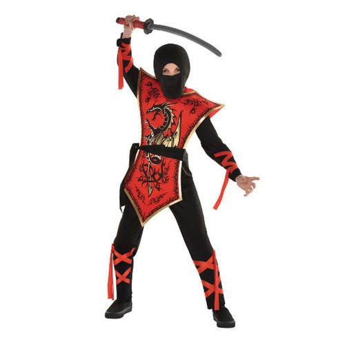 Ninja Assassin Costume Boys Medium 8 - 10