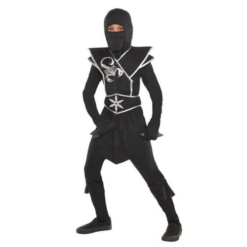 Black Ops Ninja Boys Small 4-6 Costume with Star