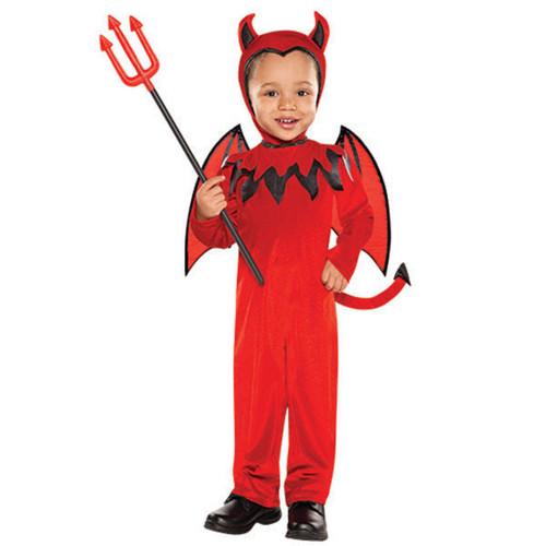 Red Devil Boy Halloween Costume Small 4-6