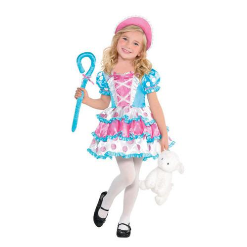 Little Bo Peep Costume Girls Toddler 3 - 4 3T - 4T