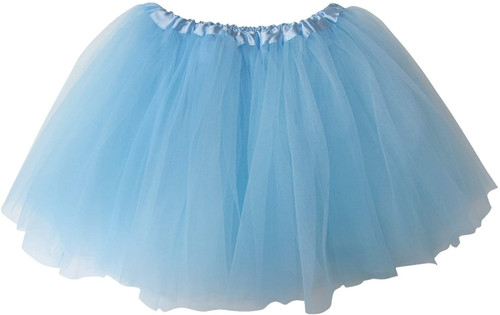 Girls Child Light Pastel Blue Ballet Tutu 3 Layer Soft Tulle