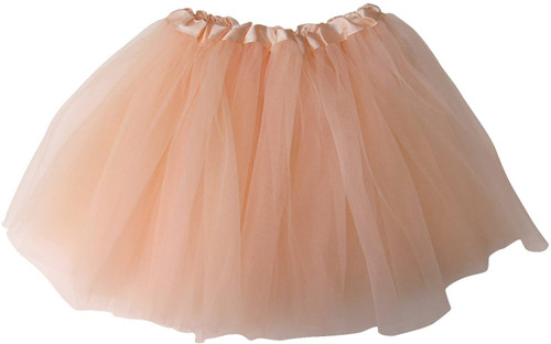 Girls Child Peach Ballet Tutu 3 Layer Soft Tulle