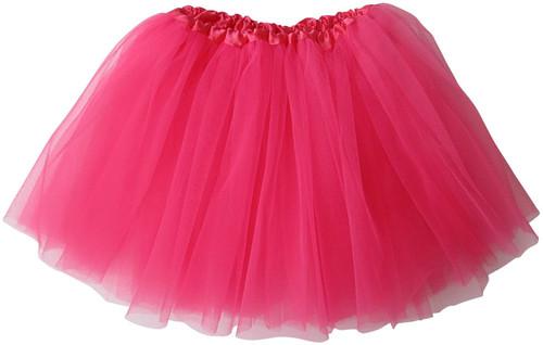 Girls Child Neon Hot Pink Ballet Tutu 3 Layer Soft Tulle