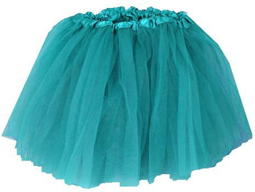 Girls Child Teal Green Ballet Tutu 3 Layer Soft Tulle