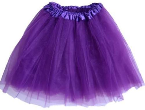 Girls Child Dark Purple Ballet Tutu 3 Layer Soft Tulle