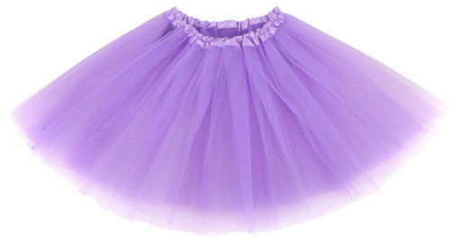 Girls Child Lavender Ballet Tutu 3 Layer Soft Tulle
